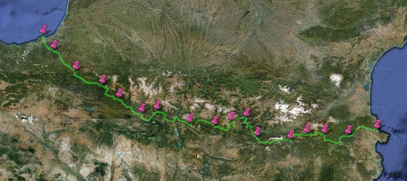 ruta en bici por el pirineo transpirenaica en bici